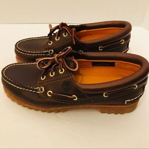 Boys 7 Timberland Classic brown Boat Shoes